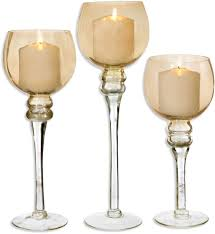 interior decoration glass hurricane candle holders bulk