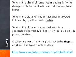 plural form of knife introducing more plural nouns ppt download