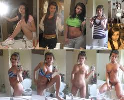 Teen girls clothed unclothed