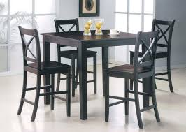 Image of Bar Height Dining Table Set Simple