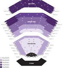 Color Purple Seating Chart Seating Chart Broadway In Akron
