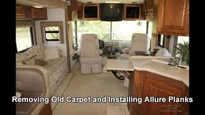 remove old rv carpet replace with allure planks vinyl floor replacement you