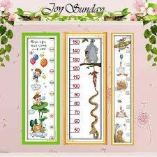 Cross Stitch Height Chart Kit Height Chart Table Counted Cross Stitch 11ct 14ct Cross Stitch Set Wholesale Diy Artoon Cross Stitch Kit Embroidery Needlework