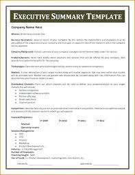 Executive Summary Sample For Proposal Executive Summary Proposal Template For Business Academic
