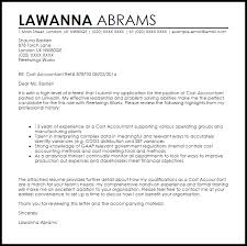 Cost Accountant Cover Letter Sample Cover Letter Templates