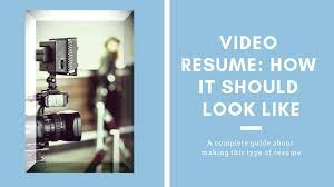 Video Resume Tips Video Resume Guide Practical Tips Resumesarea Com