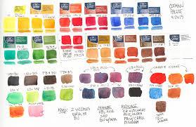 Winsor And Newton Cotman Color Chart Loads O Lillies And Winsor Newton Cotman Watercolor Review