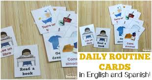 Daily Routine Printable Free Daily Routine Cards For Kids Look Were Learning