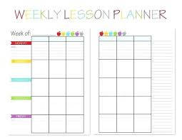 Lesson Plans Formats Elementary Free Blank Lesson Plan Templates For Elementary Teachers Teacher