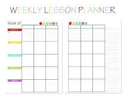 Blank Lesson Plan Templates Free Blank Lesson Plan Templates For Elementary Teachers Teacher