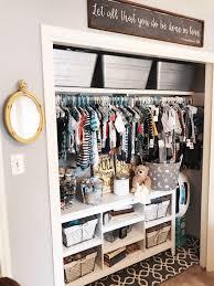 organized nursery closet project nursery