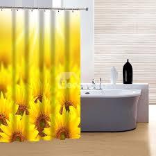 64 Wonderful Fabulous Bright Sunflower Clusters 3D Shower Curtain
