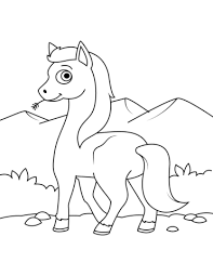 Cute Wild Horse Coloring Page Free Printable Coloring Pages