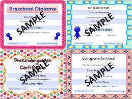 Prek Diploma Preschool Graduation Diplomas Resource