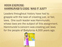 dbq document based questions ppt video online hook exercise hammurabi s code was it just