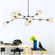 light branching bubble ceiling lights retro loft vintage clear smoke amber glass hanging suspension lamp