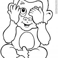Small Picture Coloring Pages Monkey Eretdvrlistscom Coloring To Print Printable