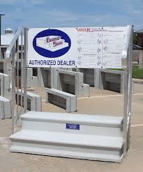 precast concrete steps dealer display
