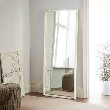 white floor mirror. Malone Campaign Floor Mirror - White Lacquer H