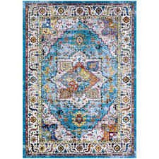 couristan gypsy ely aqua multi ivory 8 ft x 11 ft area