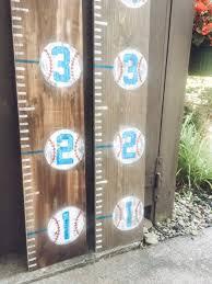 Personalized Baseball Growth Chart Ruler Height Chart Milestone Tracker Wooden Ruler Nursery Decor Playroom Decor Toddler Bedroom