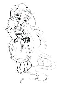 baby princess coloring pages page color tangled disney printable baby princess coloring
