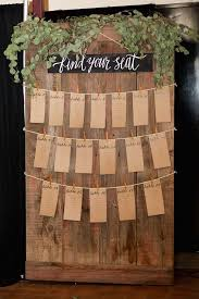 Rustic Chic Paso Robles Winery Wedding Seating Chart