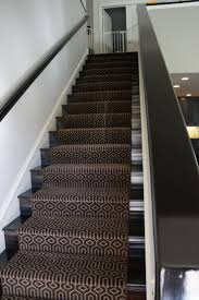 Stair Modern Stair Design With Straight Black Stair Using Black Handrail  And Treads Also Dark Brown Stair Runner : Choosing Stair Runner.
