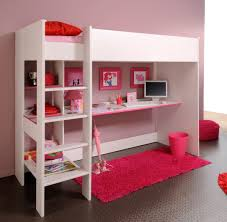 Floating Loft Bed Tall White Girls Loft Bed With Glass Top Floating Frame Desk And