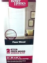 faux wood blinds x better homes and gardens ideas brown window 1 31 inch