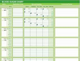 Excel Blood Sugar Log Blood Sugar Diary Excel Template Glucose Levels Tracker Delibo
