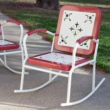 retro outdoor metal rocking chairs designs inuse coast paradise cove set olx glider chair and footstool