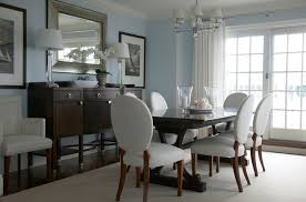 dining room furniture decorating ideas. dining room buffet decorating ideas with large contemporary framed mirror and two table lamps furniture