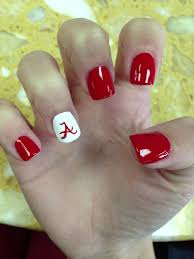 Alabama Nail Art Designs Def Not Alabama Nails Would Be Cute Orange And With Power T