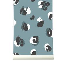 Behang Leopard Blue Roomblush
