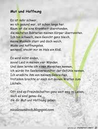 Mut Und Hoffnung Gedicht Von Nicole Sunitsch Sprüche Gedichte