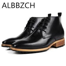 Inside Height <b>Increase Men's Business Dress</b> Work Boots Shoes ...