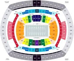 Meadowlands Seating Chart Metlife Stadium Seat Map Ibitc Co
