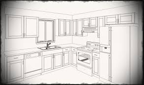 simple kitchen drawing. Simple Kitchen Drawing On Design Ideas With A