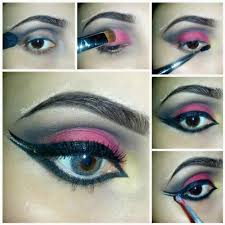 bridal tutorial of smokey 2016 eyes black smoky makeup pink india stan