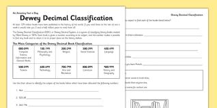 Dewey Decimal Code Worksheet Worksheet Dewey Decimal
