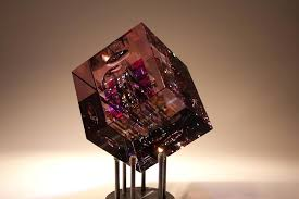 the crystal cube artist jack storms show pink crystal cube earrings crystal cube basket chandelier