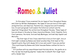 what should i write my college about romeo juliet essay romeo and juliet are repeated by two different directors which are not alike in both directing and speaking romeo and juliet did their best to keep out of
