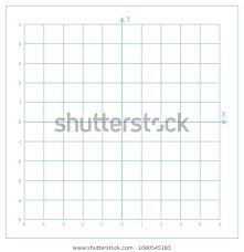 Vector Blue Metric Graph Paper Coordinate Abstract Stock Image