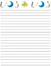 Free Printable Kindergarten Writing Paper Template For Resume Blank