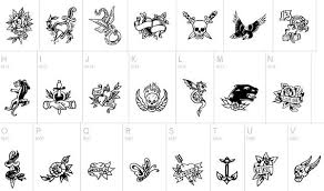 Letters For Tattoos Names Template Beauteous 48 Best Free Tattoo Fonts 48