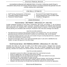Sample Financial Advisor Resume Finance Sample Resume Sample Marketing Resume Objective Health With 9