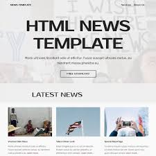 Newspaper Html Template Free Html Bootstrap News Template