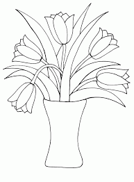 Small Picture Coloring Pages Flowers In Vase Coloring Coloring Home