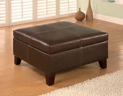 storage ottoman coffee table. This Large Square Ottoman Comes In Rich Brown Leather-feel Vinyl And Hinges Open To . Storage Coffee Table